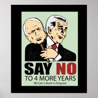 McCain y Bush. Disfraz Póster