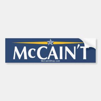McCain't Bumper Sticker