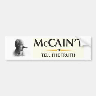 McCain't Tell the Truth Car Bumper Sticker