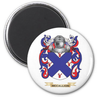 McCallion Coat of Arms (Family Crest) 2 Inch Round Magnet