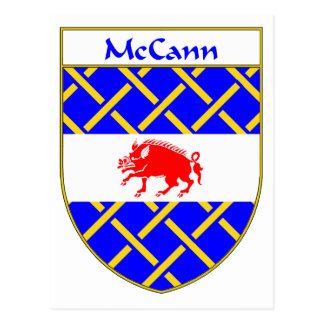 McCann Coat of Arms/Family Crest Postcard