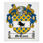 McCann Family Crest Print