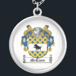 """McCann Family Crest Silver Plated Necklace<br><div class=""""desc"""">McCann Coat of Arms</div>"""