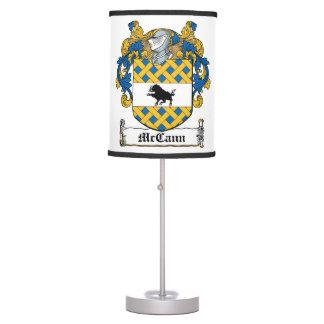 McCann Family Crest Table Lamp