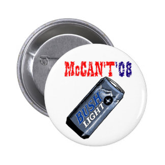 McCan't '08 Button