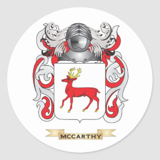 McCarthy Coat of Arms (Family Crest) Classic Round Sticker