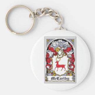 McCarthy Family Crest Basic Round Button Keychain