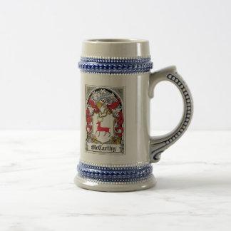 McCarthy Family Crest Beer Stein