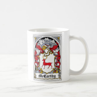 McCarthy Family Crest Classic White Coffee Mug