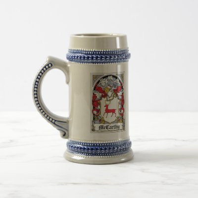 McCarthy Family Crest Coffee Mugs by coatsofarms