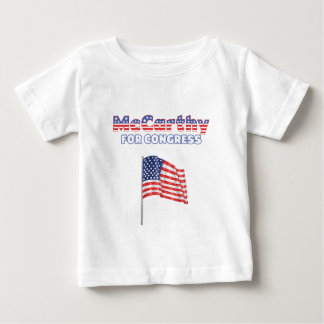 McCarthy for Congress Patriotic American Flag Desi Baby T-Shirt