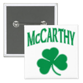 McCarthy  Irish 2 Inch Square Button