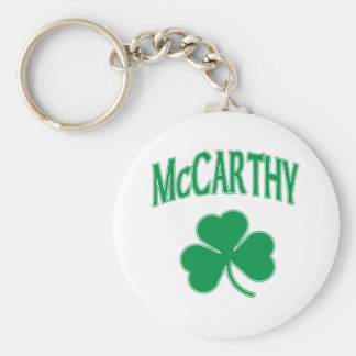 McCarthy  Irish Basic Round Button Keychain