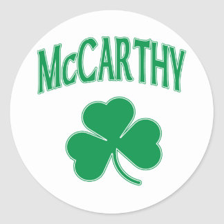 McCarthy  Irish Classic Round Sticker