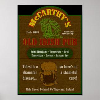 McCarthy Pub Sign Poster $25.00