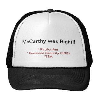 McCarthy tenía razón Gorros Bordados