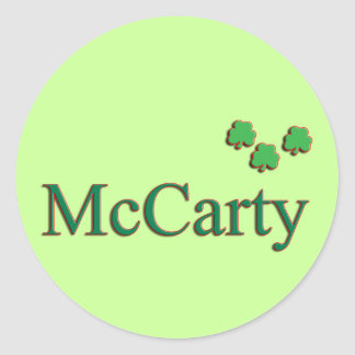 McCarty Family Classic Round Sticker