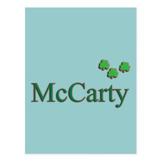 McCarty Family Postcard