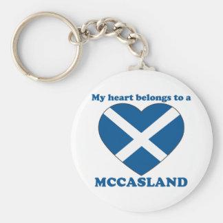 Mccasland Basic Round Button Keychain
