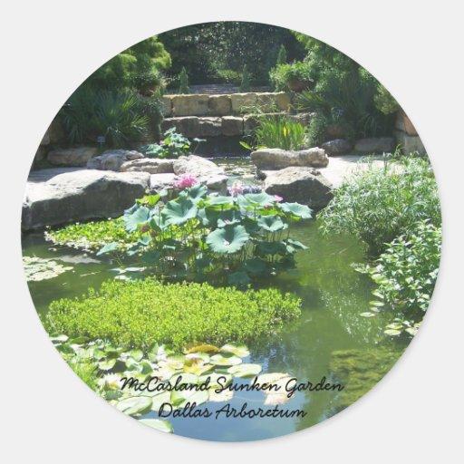 McCasland Sunken Garden Classic Round Sticker