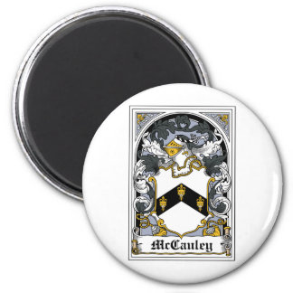 McCauley Family Crest 2 Inch Round Magnet