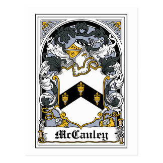 McCauley Family Crest Postcard