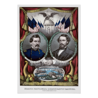 McClellan and Pendleton Campaign Poster