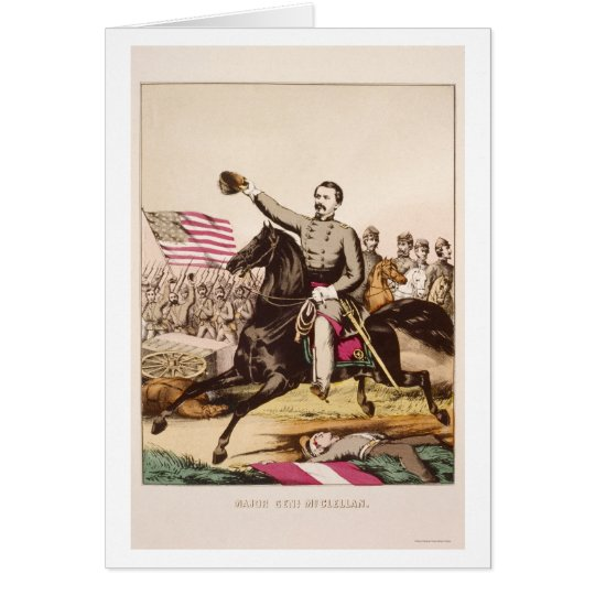 McClellan on Horseback by Gibson and Company 1862 Card