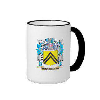 Mcclelland Coat of Arms - Family Crest Ringer Coffee Mug