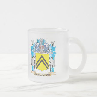 Mcclelland Coat of Arms - Family Crest 10 Oz Frosted Glass Coffee Mug