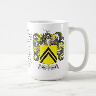 McClelland Family Coat of Arms Classic White Coffee Mug
