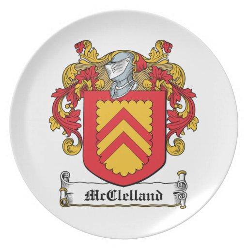 McClelland Family Crest Dinner Plates