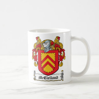 McClelland Family Crest Classic White Coffee Mug