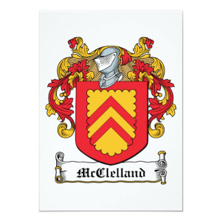 McClelland Family Crest Personalized Announcements