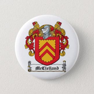 McClelland Family Crest Pinback Button