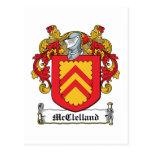 McClelland Family Crest Postcards
