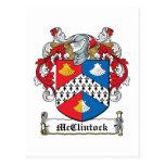 McClintock Family Crest Postcard