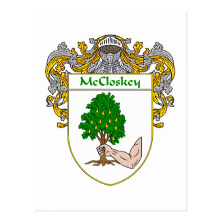 McCloskey Coat of Arms (Mantled) Postcard
