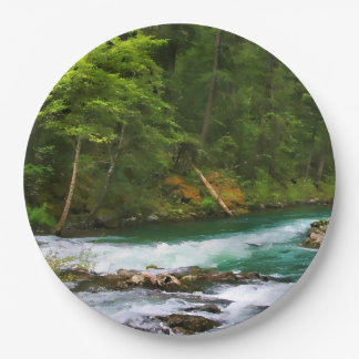 McCLOUD RIVER 9 Inch Paper Plate