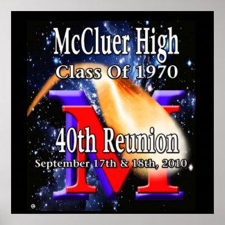McCluer de clase superior 'del 40.o poster de la r Póster