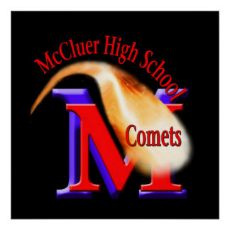 McCluer High Comet Poster w/ Name