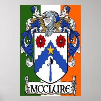 McClure Coat of Arms Irish Flag Print