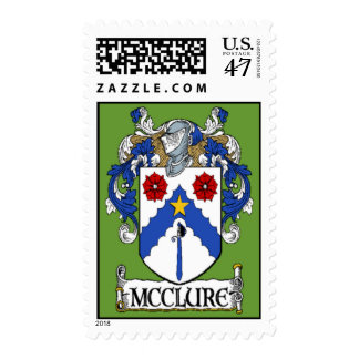 McClure Coat of Arms Postage Stamps