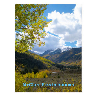 McClure Pass in September Fall Color Postcard