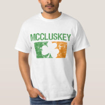 Mccluskey Surname Clover T-Shirt