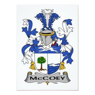 McCoey Family Crest Card