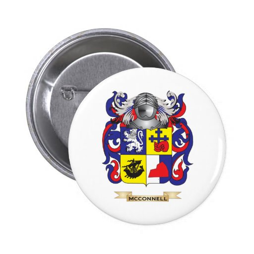 McConnell Coat of Arms (Family Crest) 2 Inch Round Button