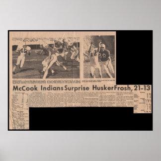 McCook JC gana sobre Nebraska Frosh en 1969 21-13 Poster