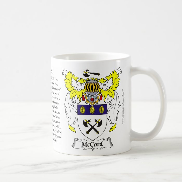 McCord, the Origin, the Meaning and the Crest Coffee Mug
