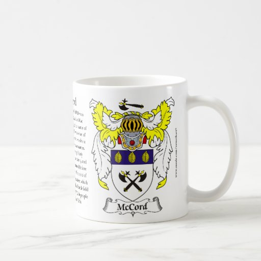 McCord, the Origin, the Meaning and the Crest Coffee Mugs